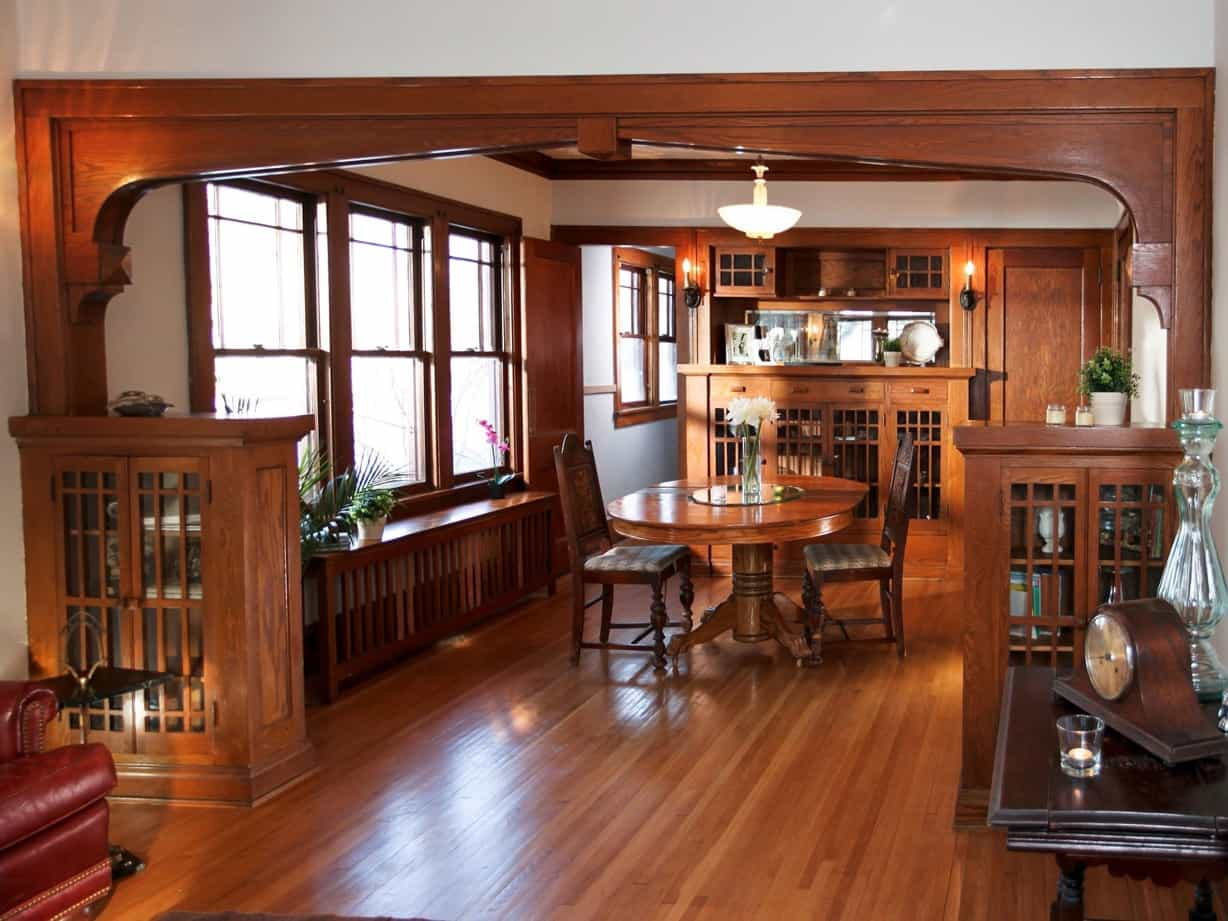 craftsman style dining room with original woodwork #50752 | house