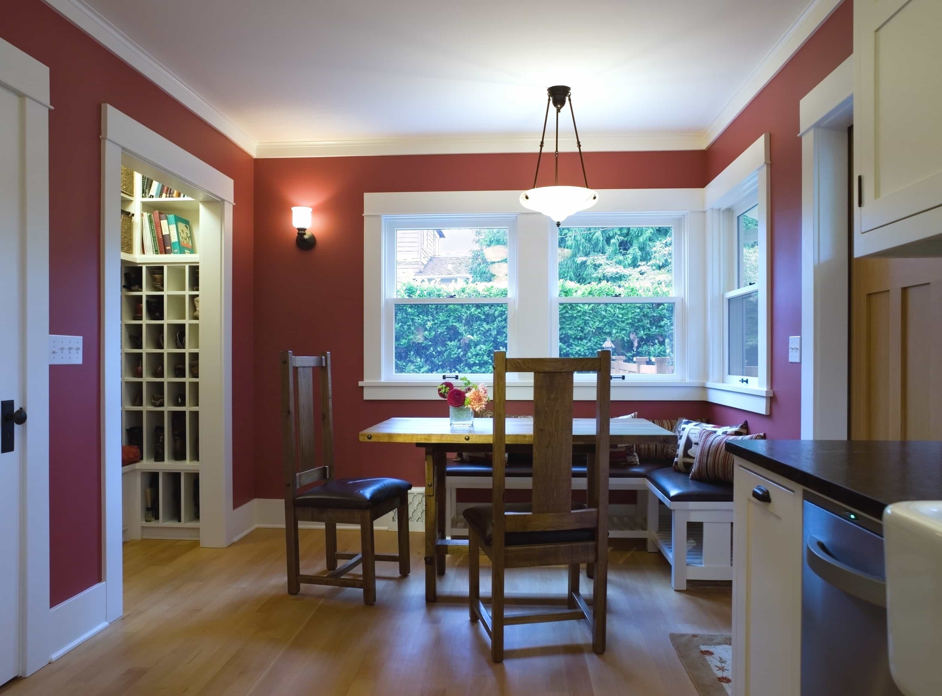 Featured Image of Craftsman Style Breakfast Area Opens Up To The Kitchen