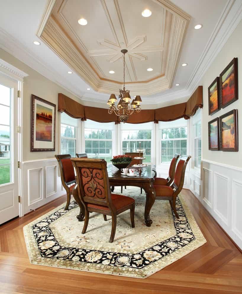 Elegance Bay Window Valances In Brown Color (Image 11 of 20)