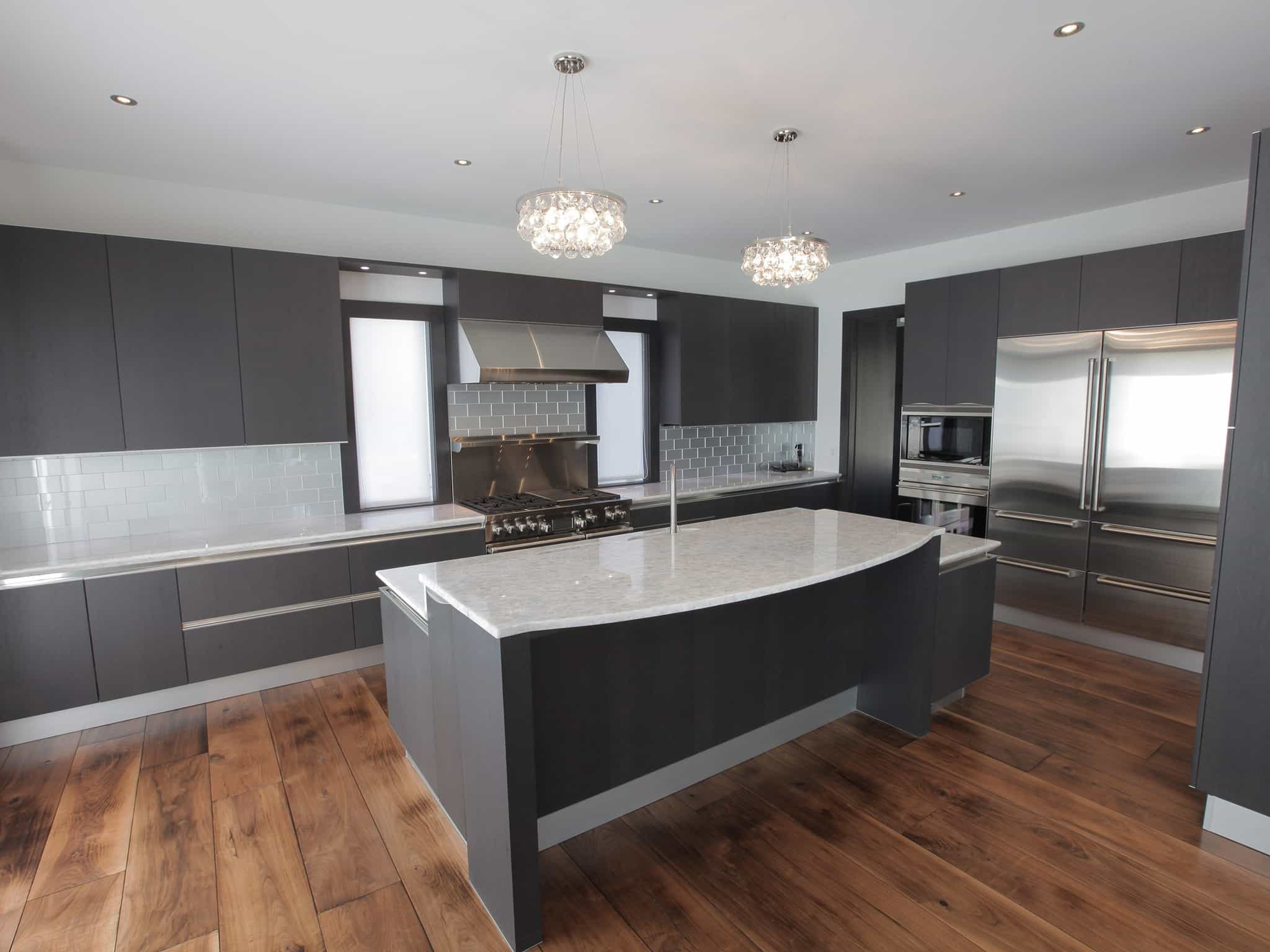 Fitted Kitchen Design Plans With Wood Flooring (View 14 of 15)