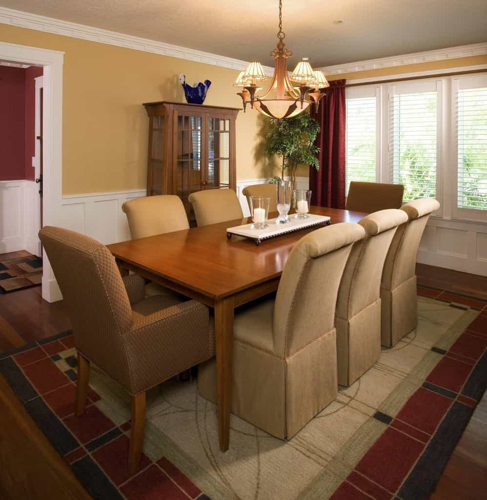 Featured Image of Formal Craftsman Style Dining Room