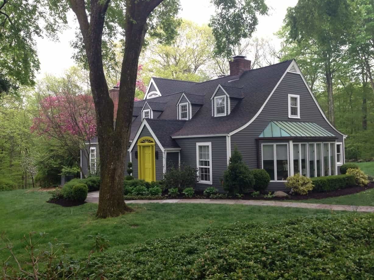 Featured Image of Gray Colonial Home Exterior