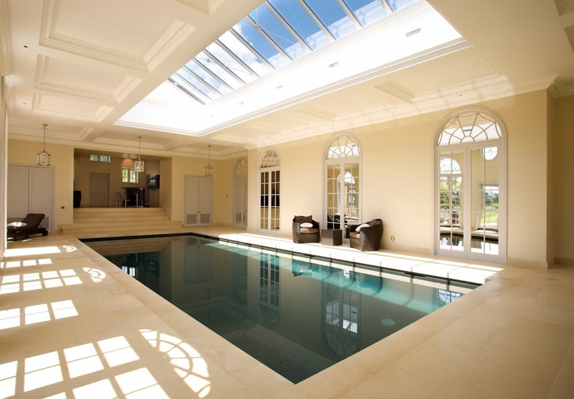 Indoor Private Swimming Pool With Transparent Ceiling (Image 6 of 14)