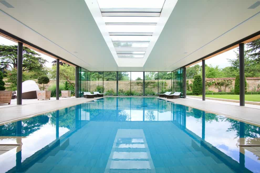 Inspiration For A Contemporary Indoor Pool Remodel (Image 7 of 14)