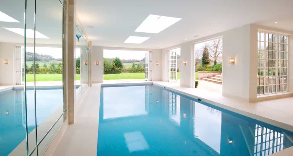 Inspiration For A Contemporary Minimalist Rectangular Indoor Pool Remodel (Image 8 of 14)