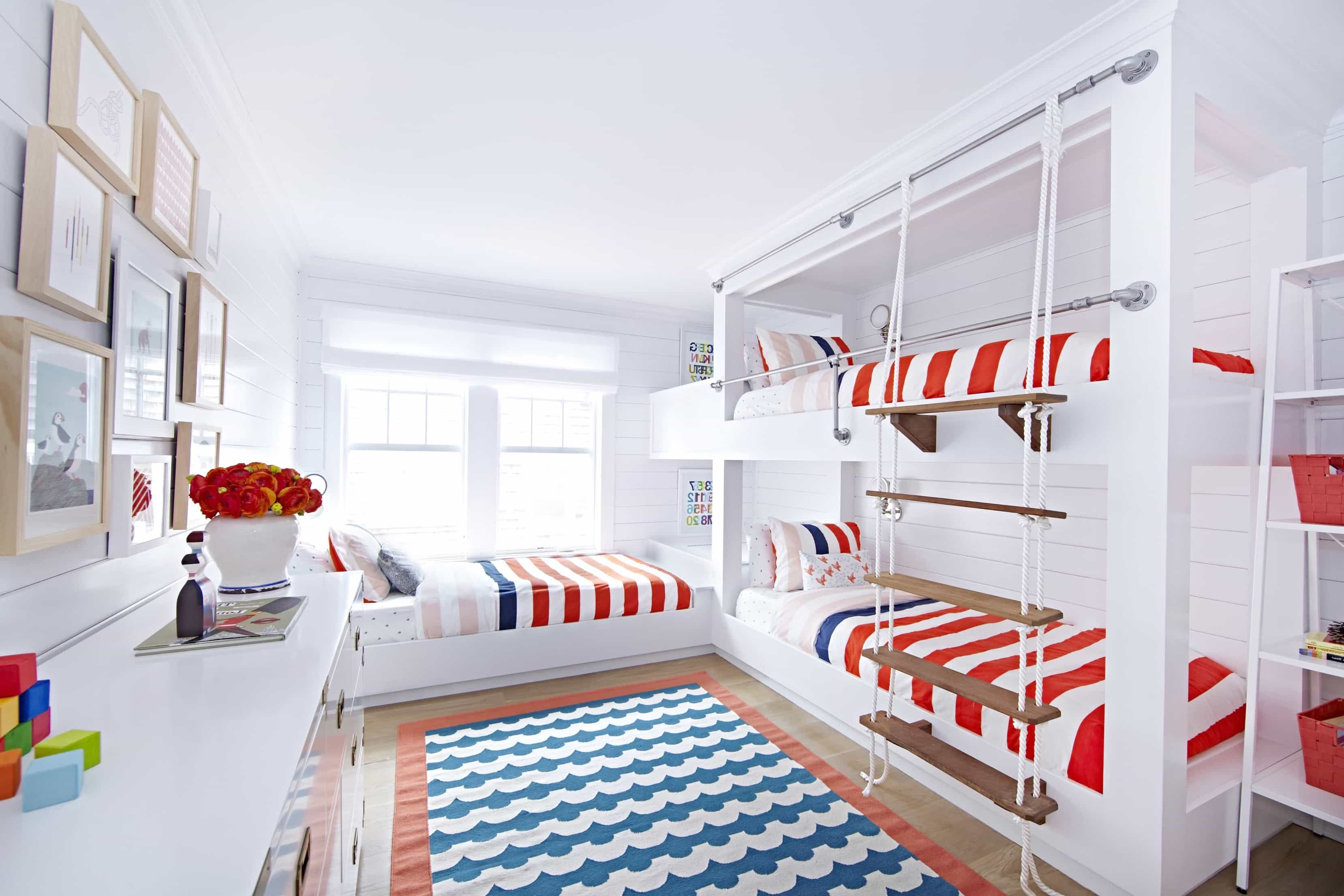 Featured Image of Kids Bunk Room With Patriotic Color Theme