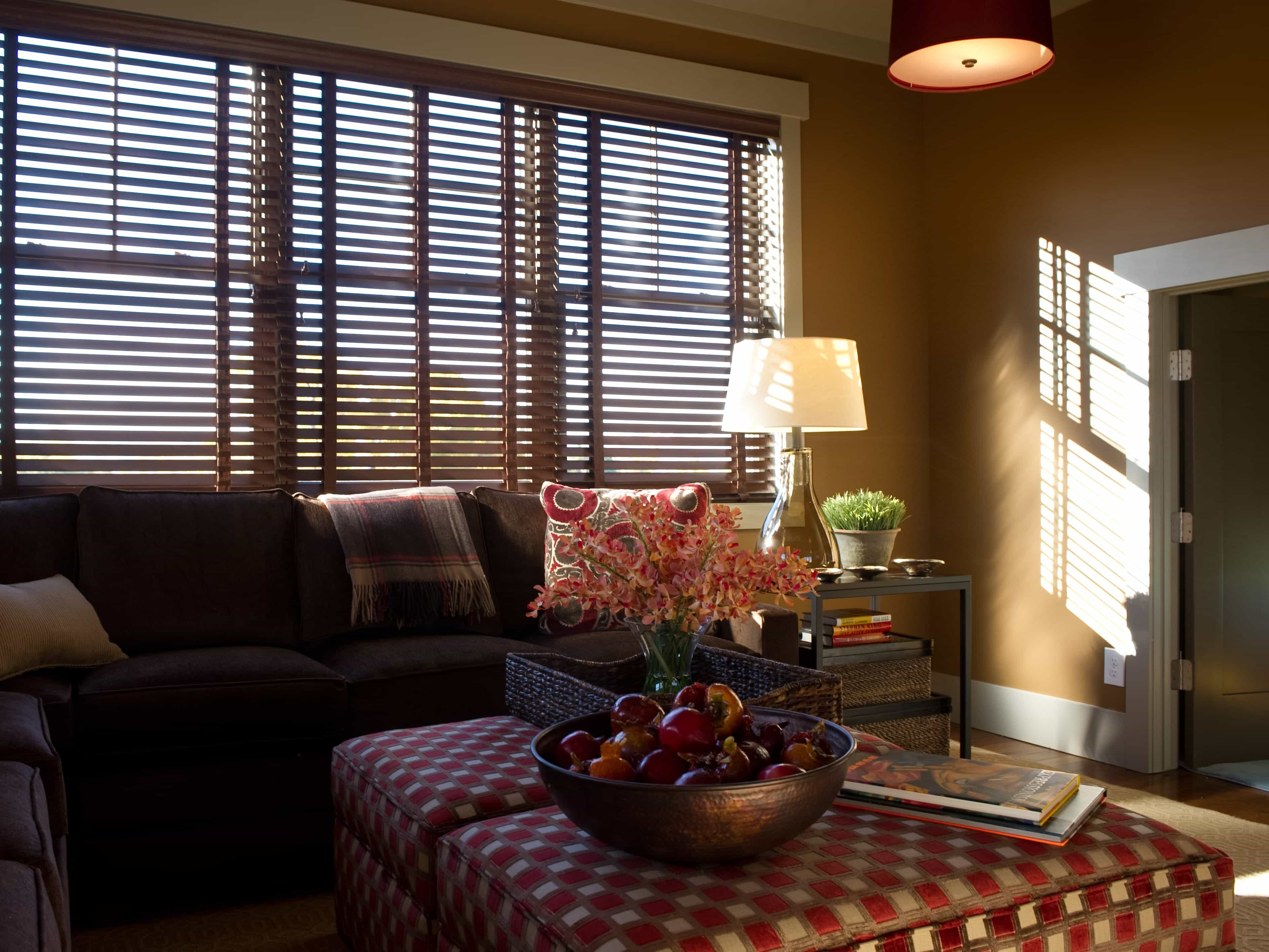Living Room With Wooden Sliding Shutter Windows (Image 12 of 27)