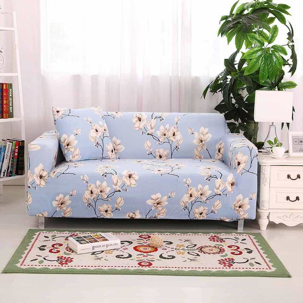 Featured Image of Minimalist Modern All Inclusive Elastic Sofa Cover Floral Printed