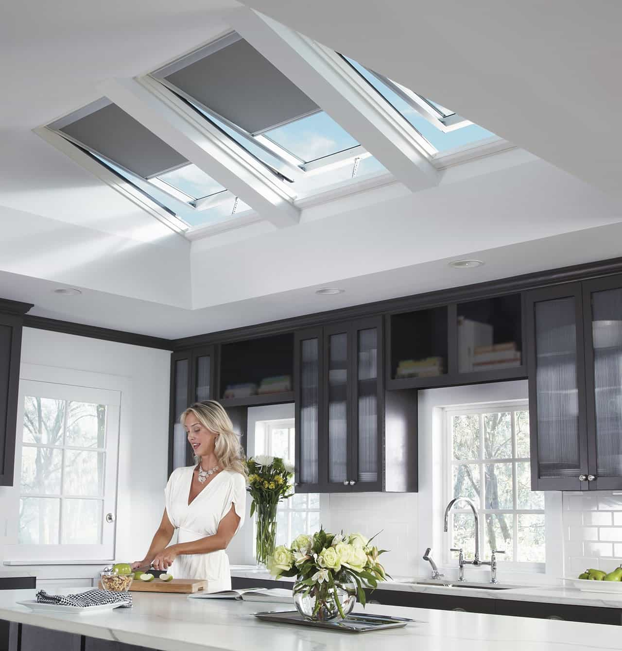 Modern Solar Blockout Blinds For Modern Kitchen Interior (Image 18 of 25)