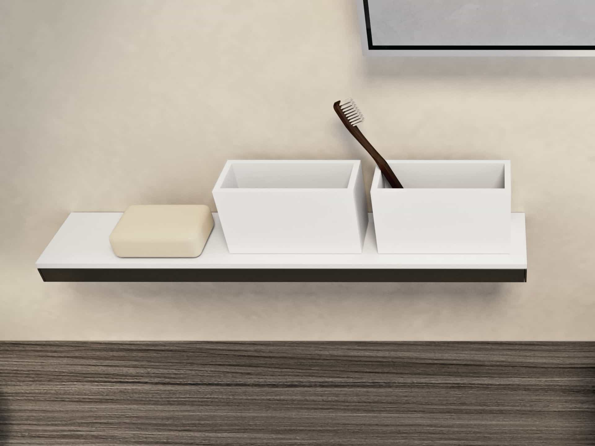 Modern Toothbrush Holder Shelf (Image 5 of 6)