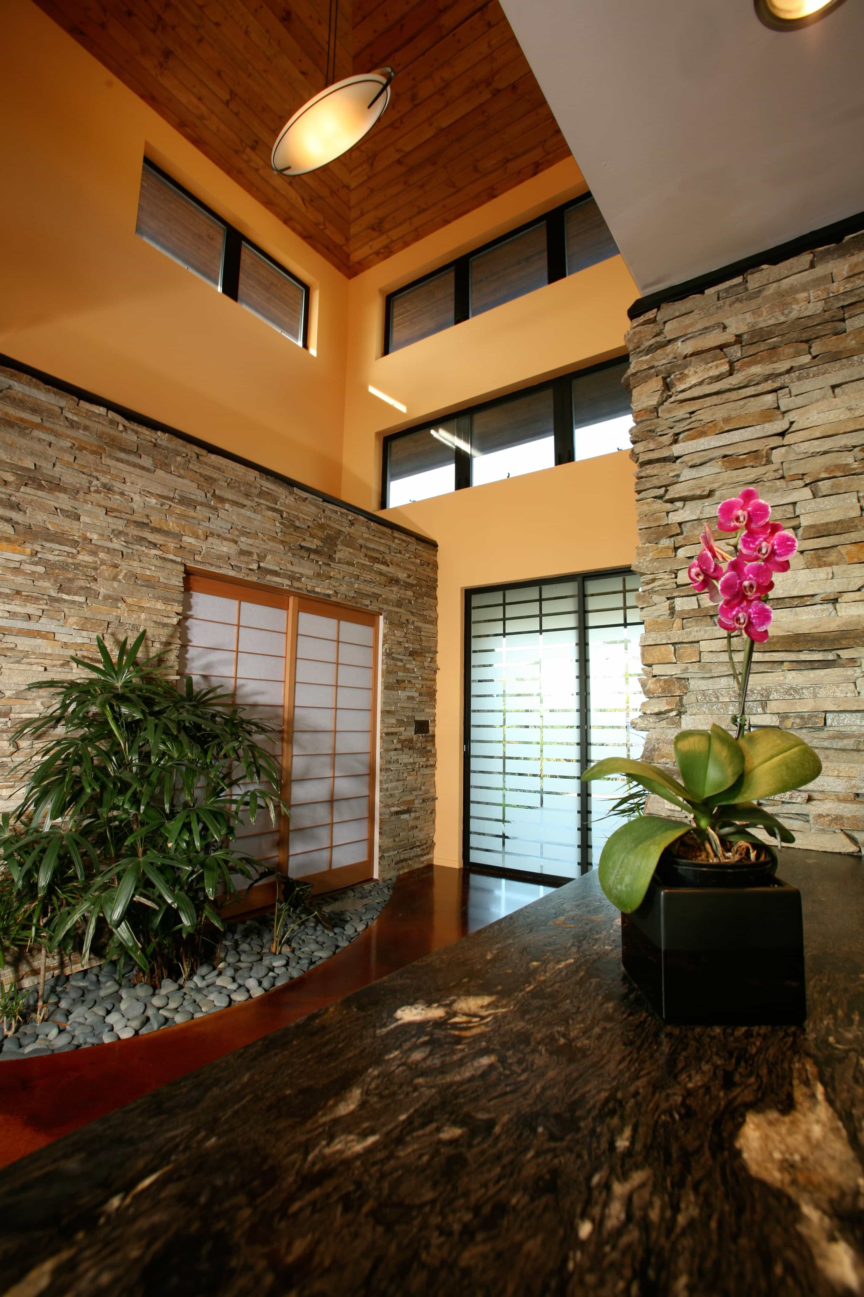 Featured Image of Neutral Asian Foyer With Shoji Glass Sliding Doors