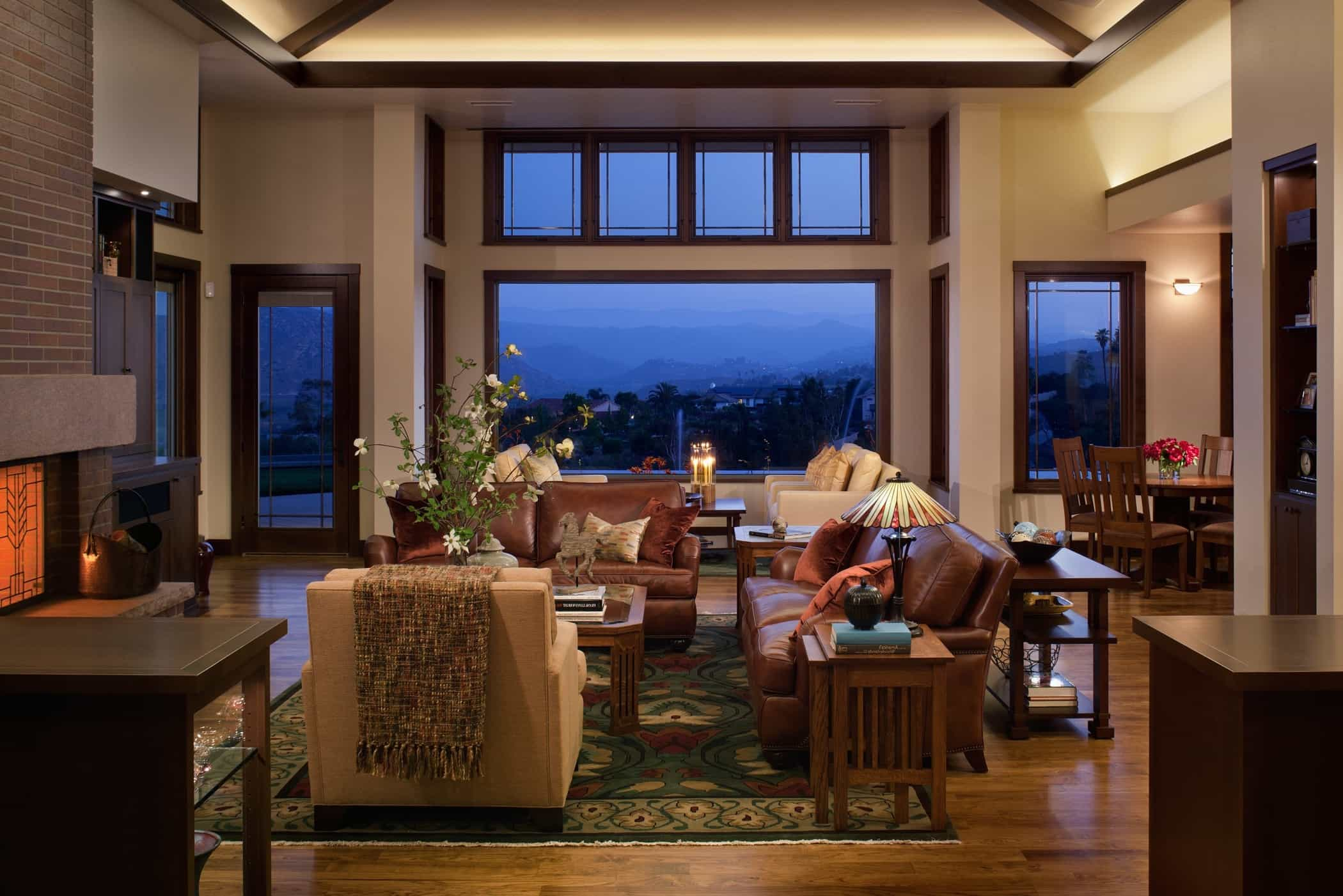 Featured Image of Open Space Craftsman Style Living Room