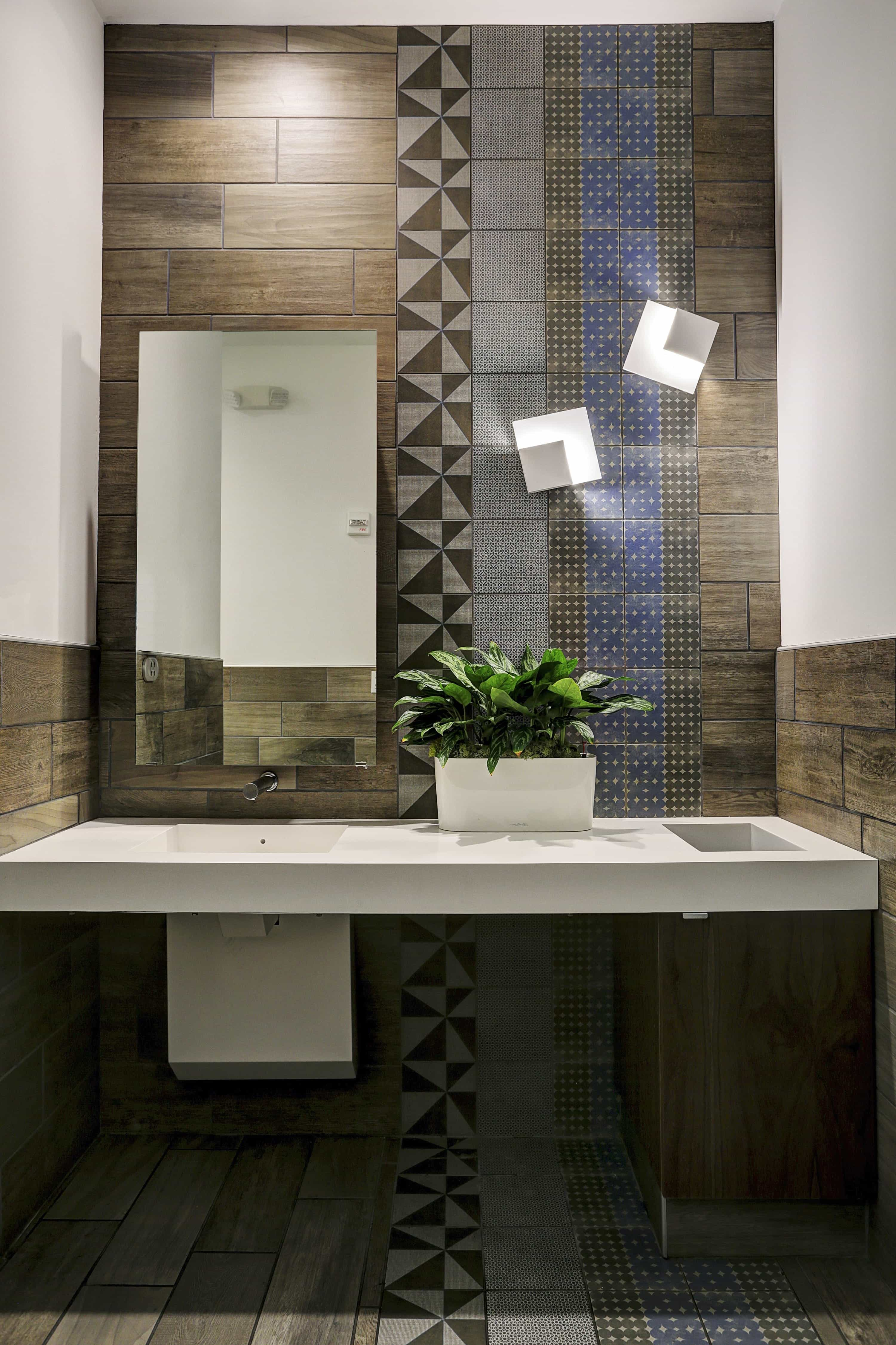 Featured Image of Patterned Artisan Tile For Modern Bathroom Wall