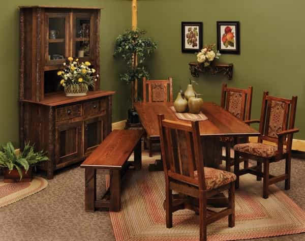 Featured Image of Rustic Dining Room Table And Chairs Set
