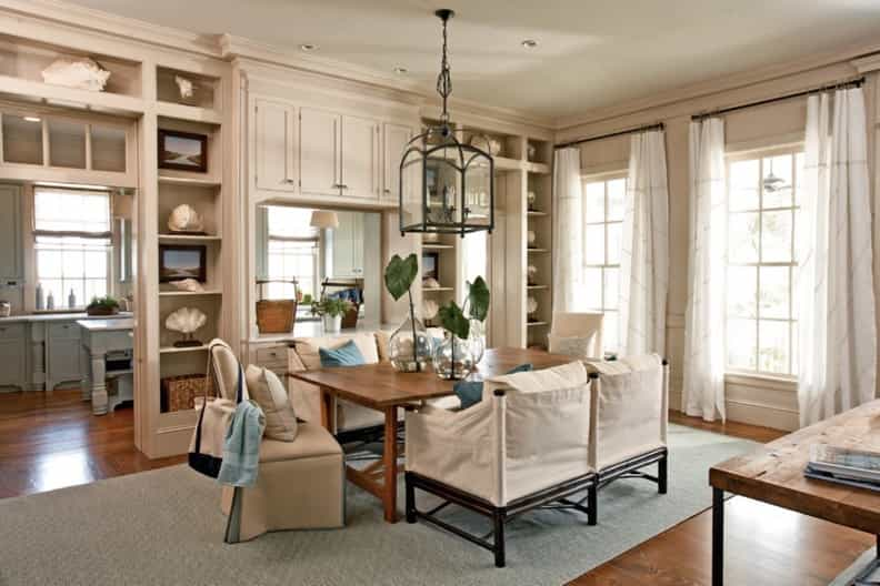 Featured Image of Rustic Dining Room With Decorative Wall Cabinet