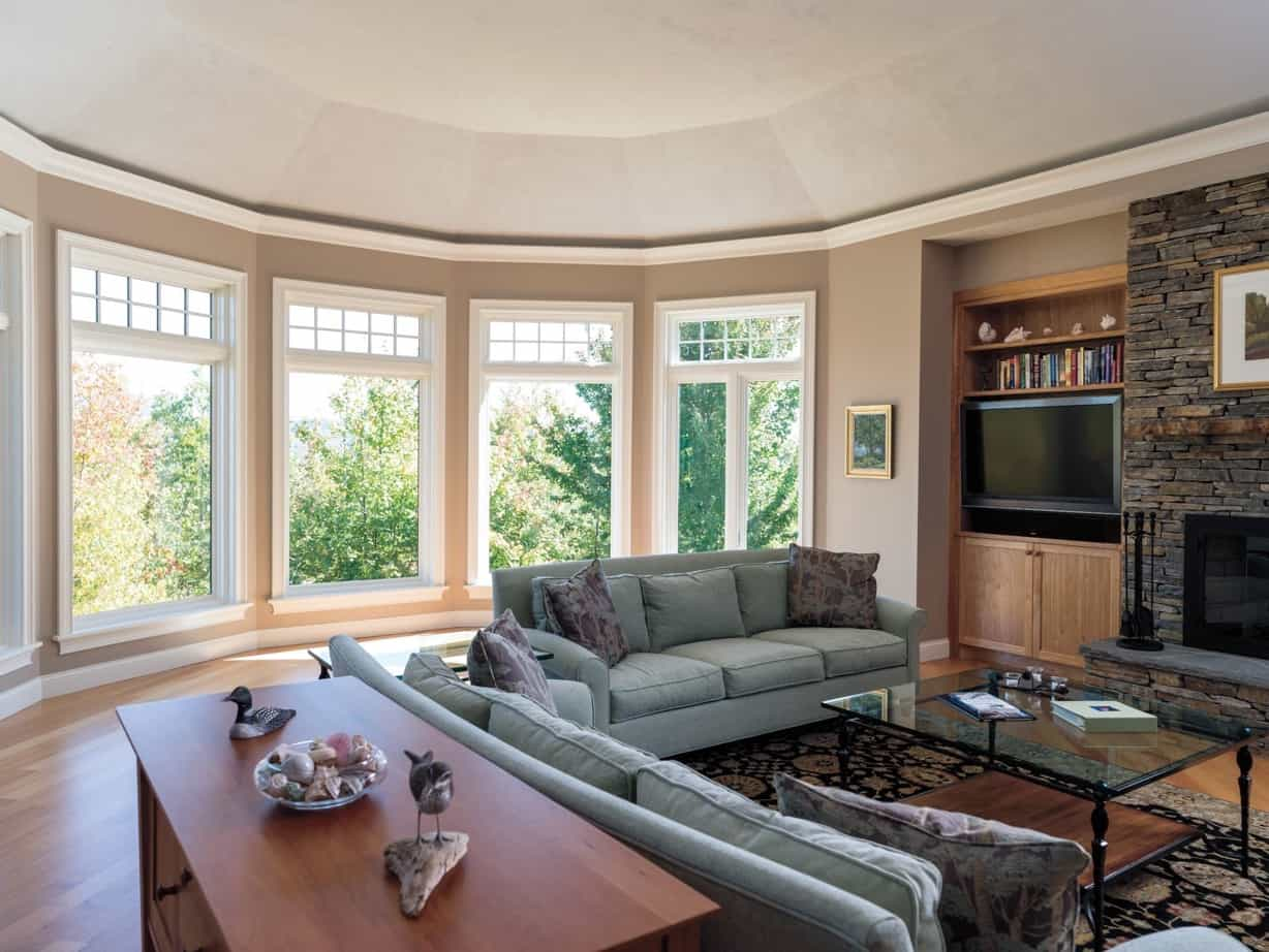 Featured Image of Shingle Style Home Interior With Wall Of Windows