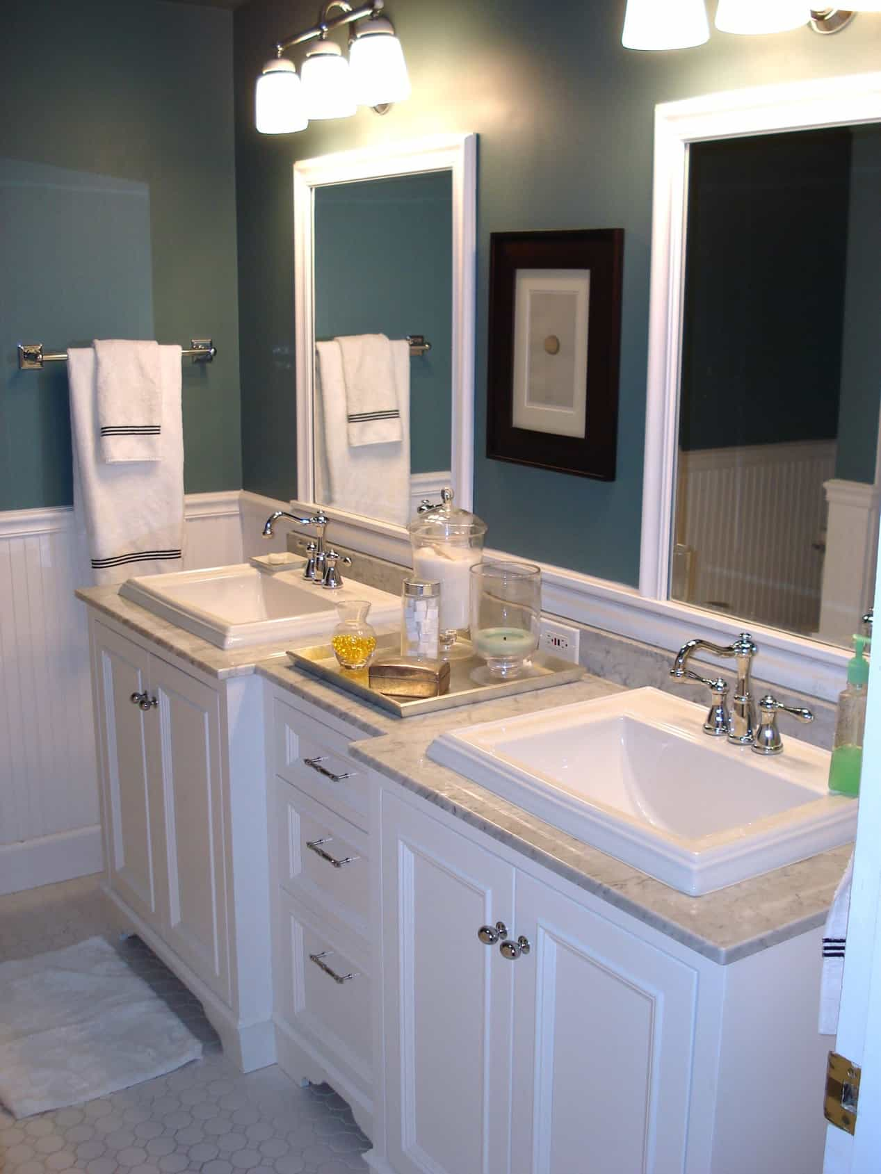 Featured Image of Sleek Dual Vanities Highlight Cottage Style Bathroom Refresh