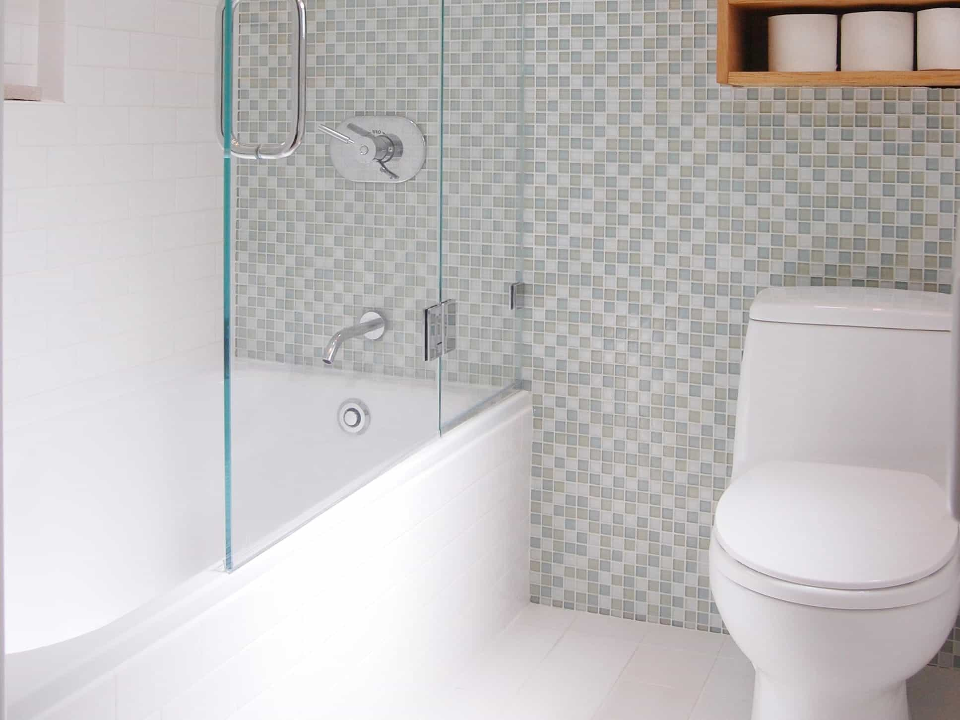 Small White Bathroom Remodel In Minimalist Style (Image 14 of 19)