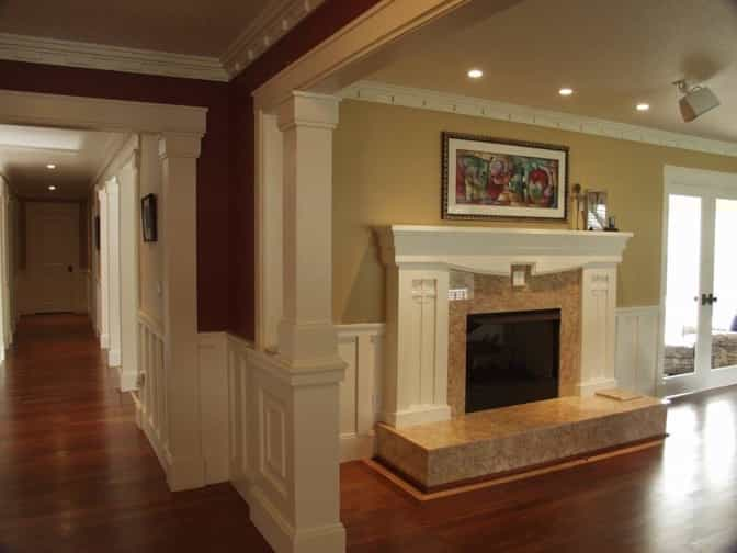 Featured Image of Stately Fireplace In Craftsman Style Home