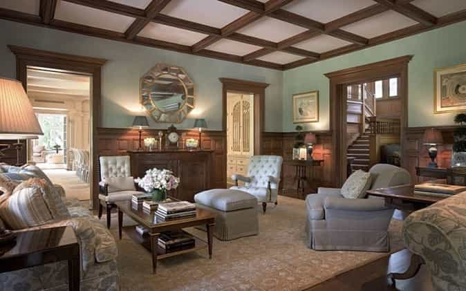 Featured Image of Traditional Living Room With Coffered Ceiling
