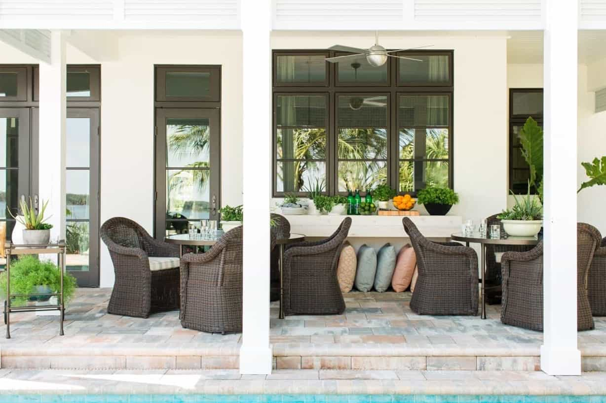 Featured Image of Two Round Four Seat Dining Tables For Outdoor Patio