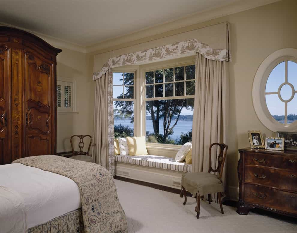 Upholstered Bay Window Cornice For Bedroom (Image 19 of 20)