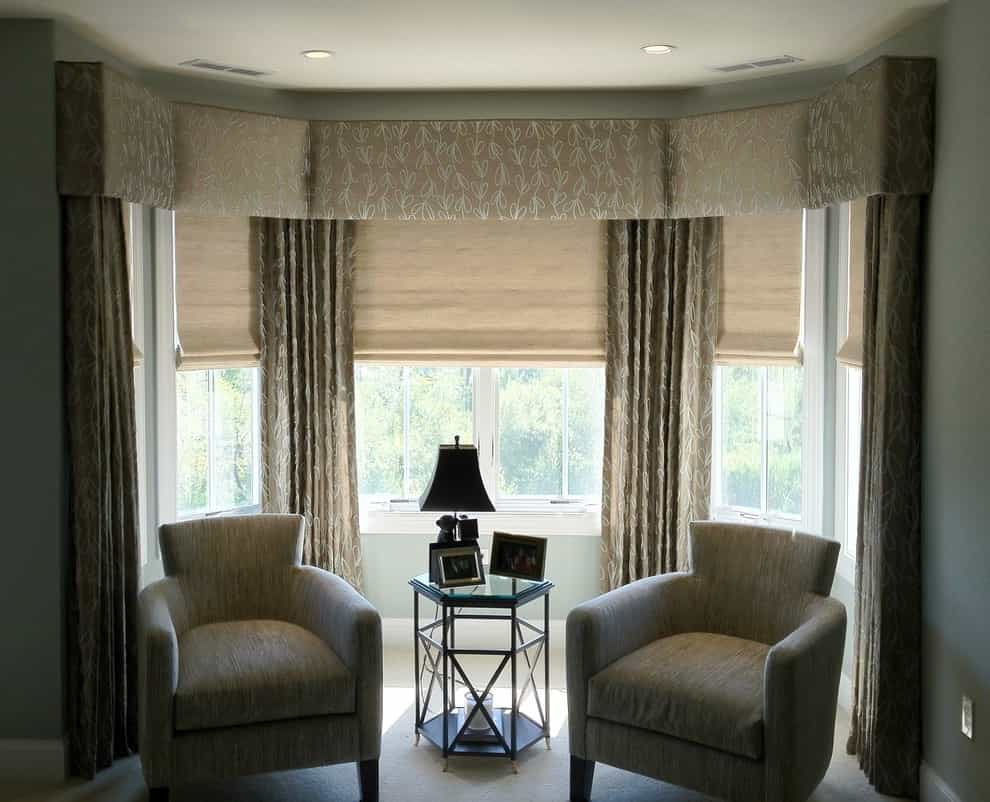 Upholstered Bay Window Cornice (Image 18 of 20)