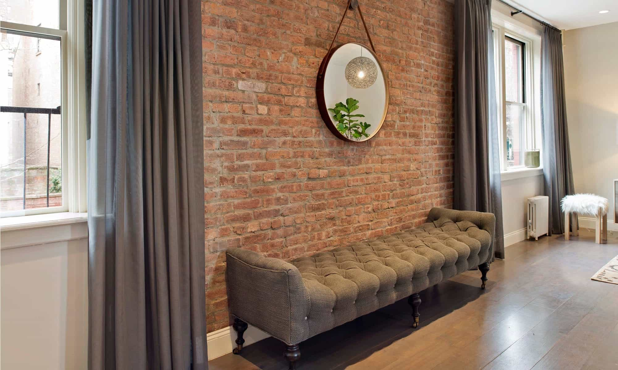 Urban Living Room With Brick Accent Wall (Image 28 of 30)