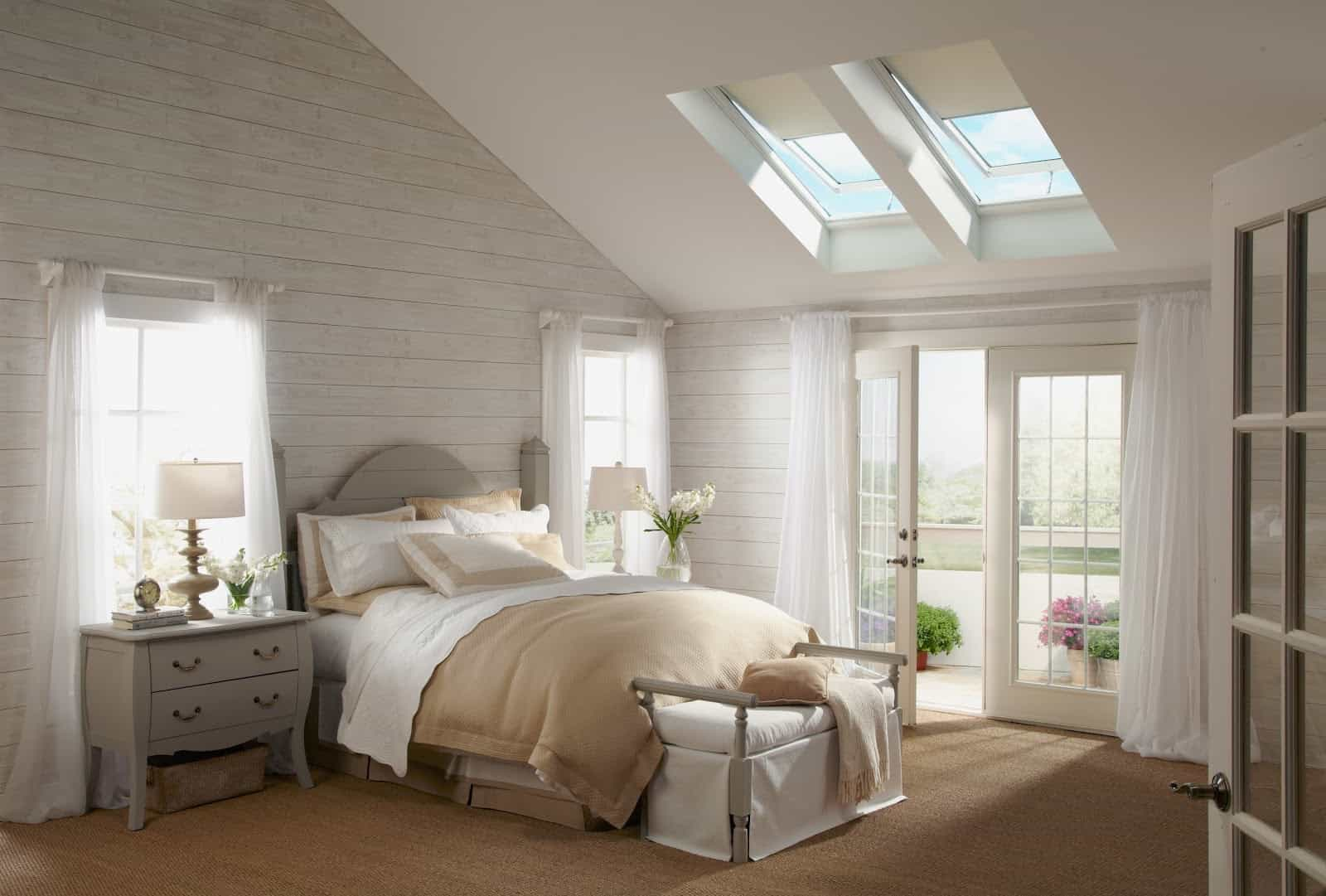 Vertical Skylight And Rooflight Blinds For Elegant Bedroom Interior (Image 25 of 25)