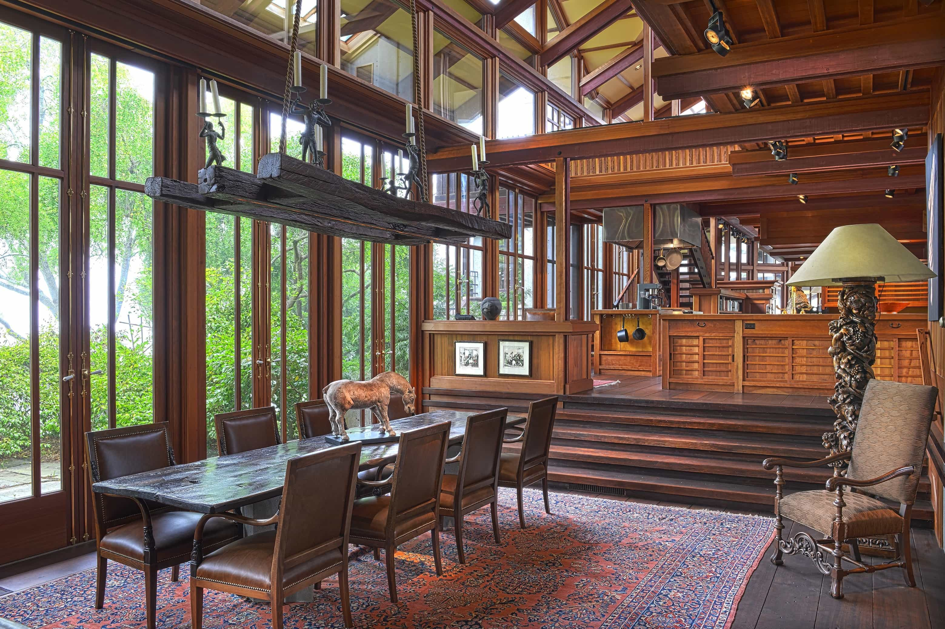 Featured Image of Vintage Open Dining Room With Detailed Woodcraft