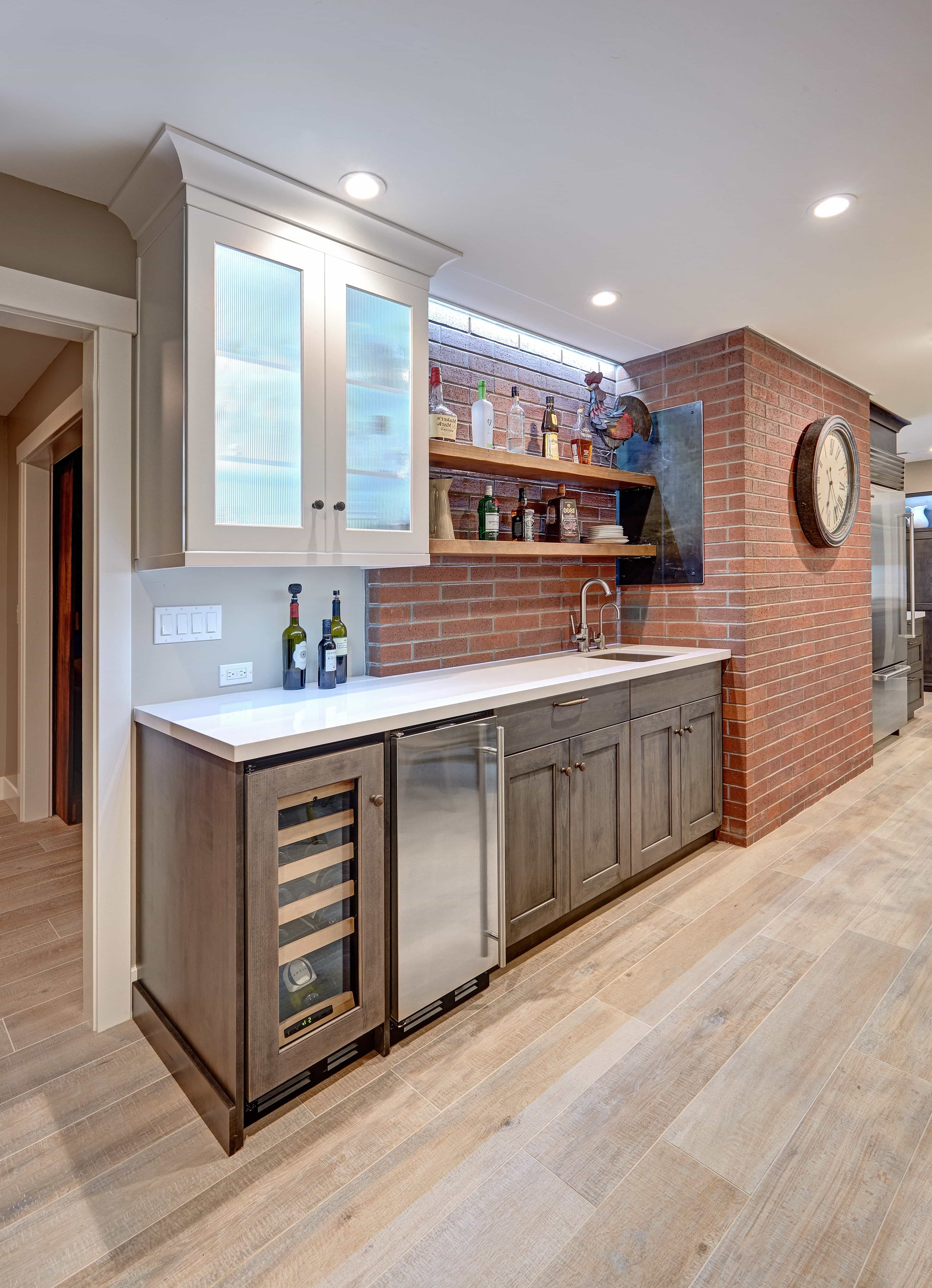Wet Bar With Brick Wall  (Image 29 of 30)