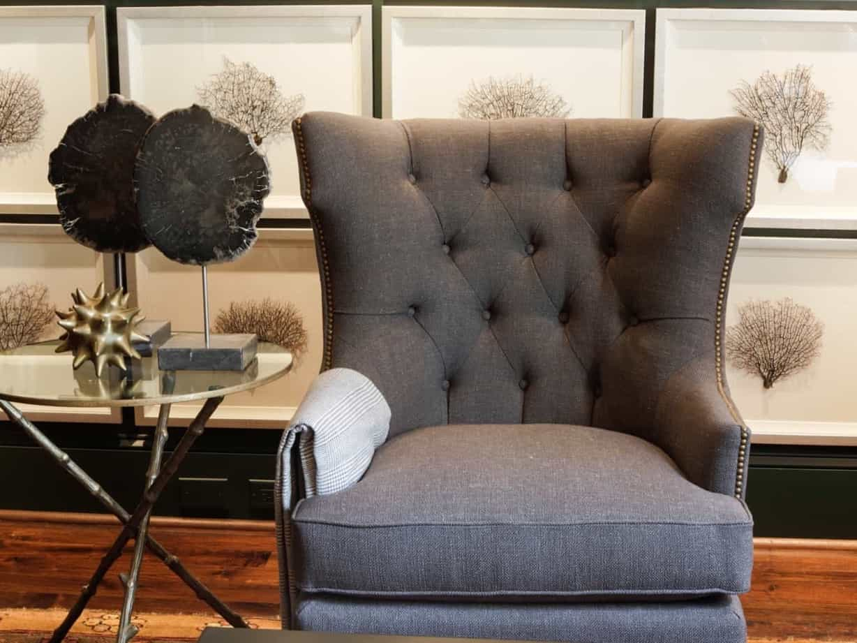 Featured Image of Wingback Chair In Coastal Sitting Room