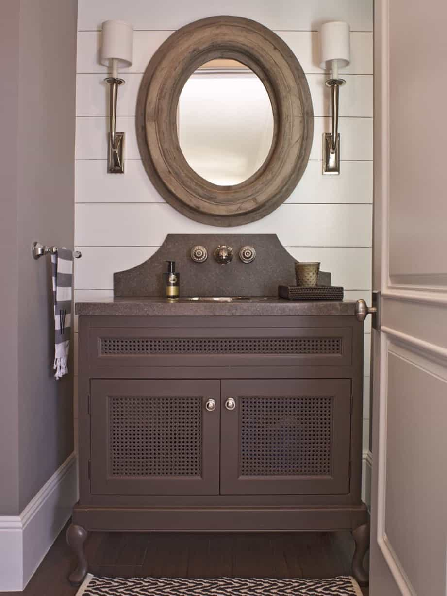 Featured Image of Wood Cottage Style Bathroom Vanities Cabinets