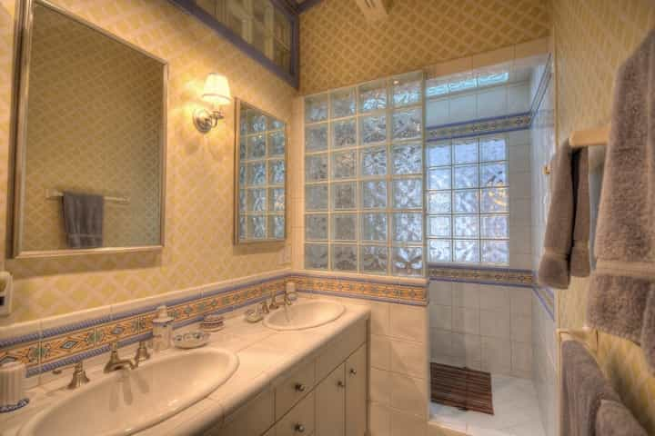 Featured Image of Yellow Cottage Double Vanity Bathroom