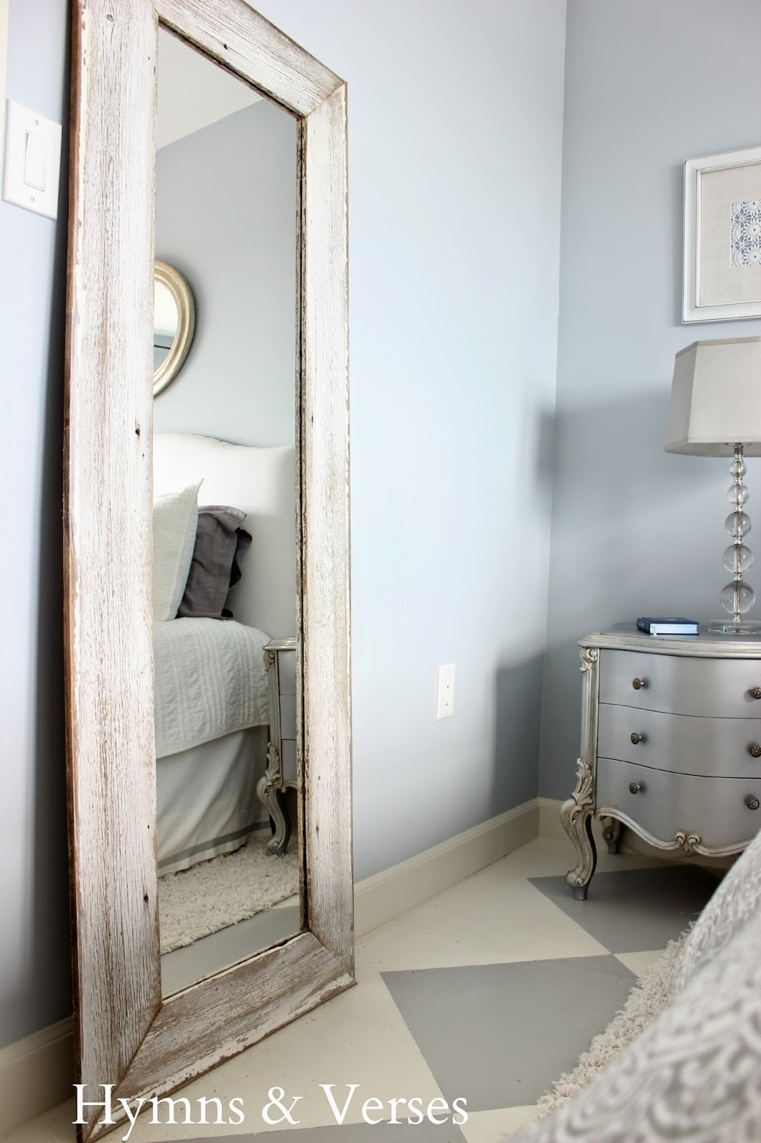 A 5 Thrift Mirror Old Barn Wood Siding Tall Floor Mirror For For Large White Floor Mirror (Image 1 of 15)