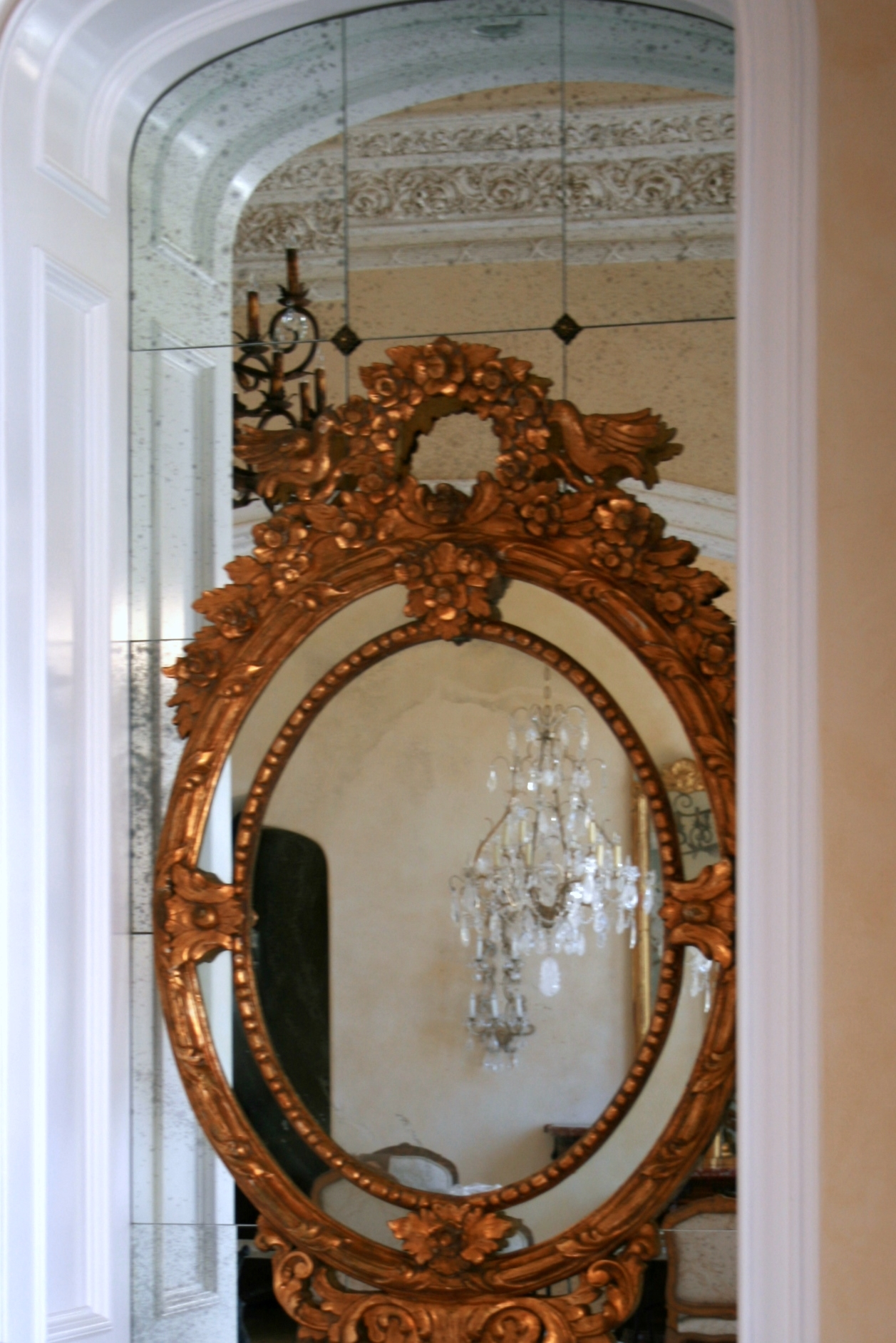 A D Glass Antique Mirrors In Old French Mirrors (Image 5 of 15)