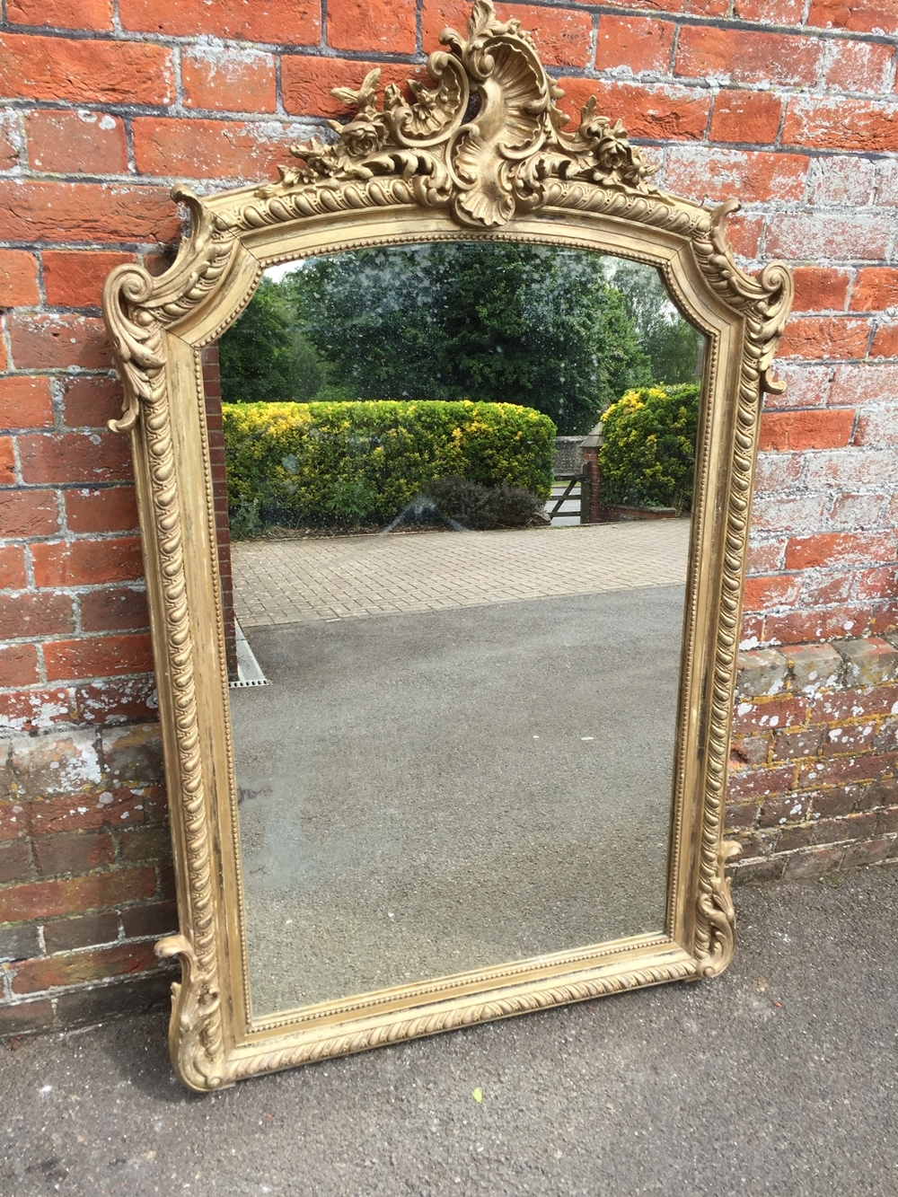 A Delightful Antique 19th Century French Carved Wood Gesso Intended For Ornate Gilt Mirrors (Image 1 of 15)