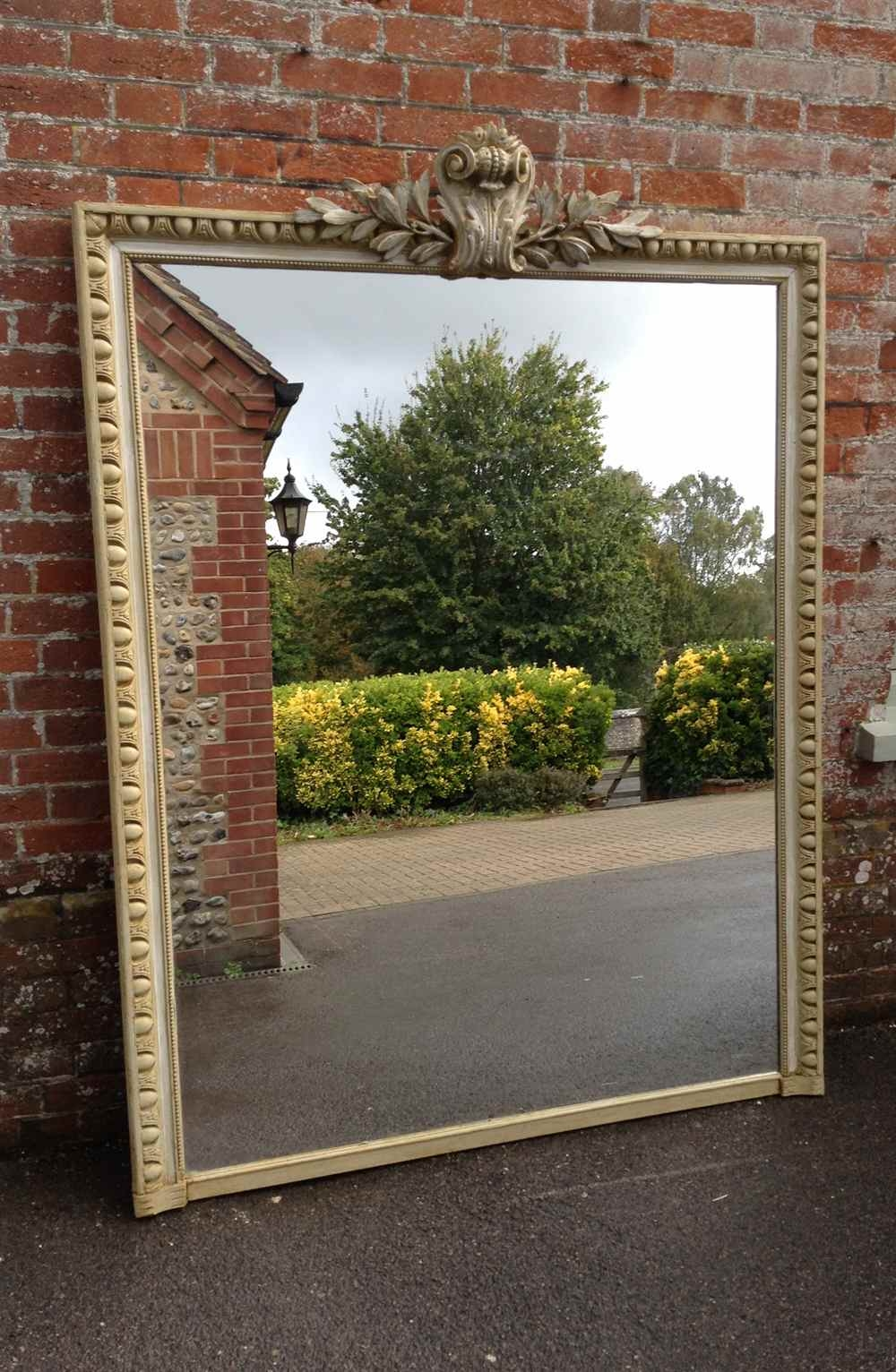 A Fabulous Large Antique 19th Century French Highly Decorative For French Floor Standing Mirror (Image 2 of 15)