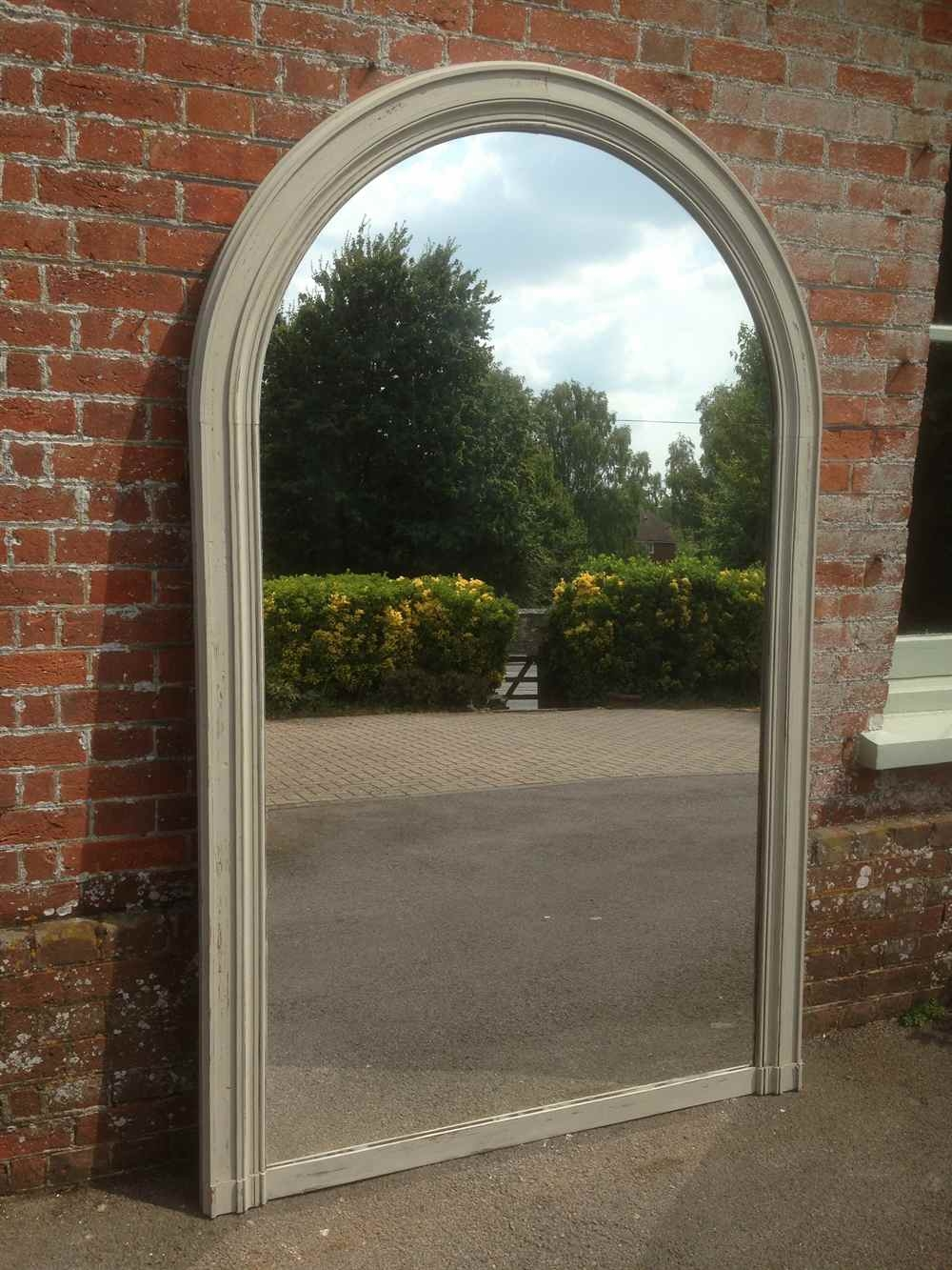A Fabulous Large Antique 19th Century French Oak Painted Arched In Large Arched Mirrors (Image 1 of 15)