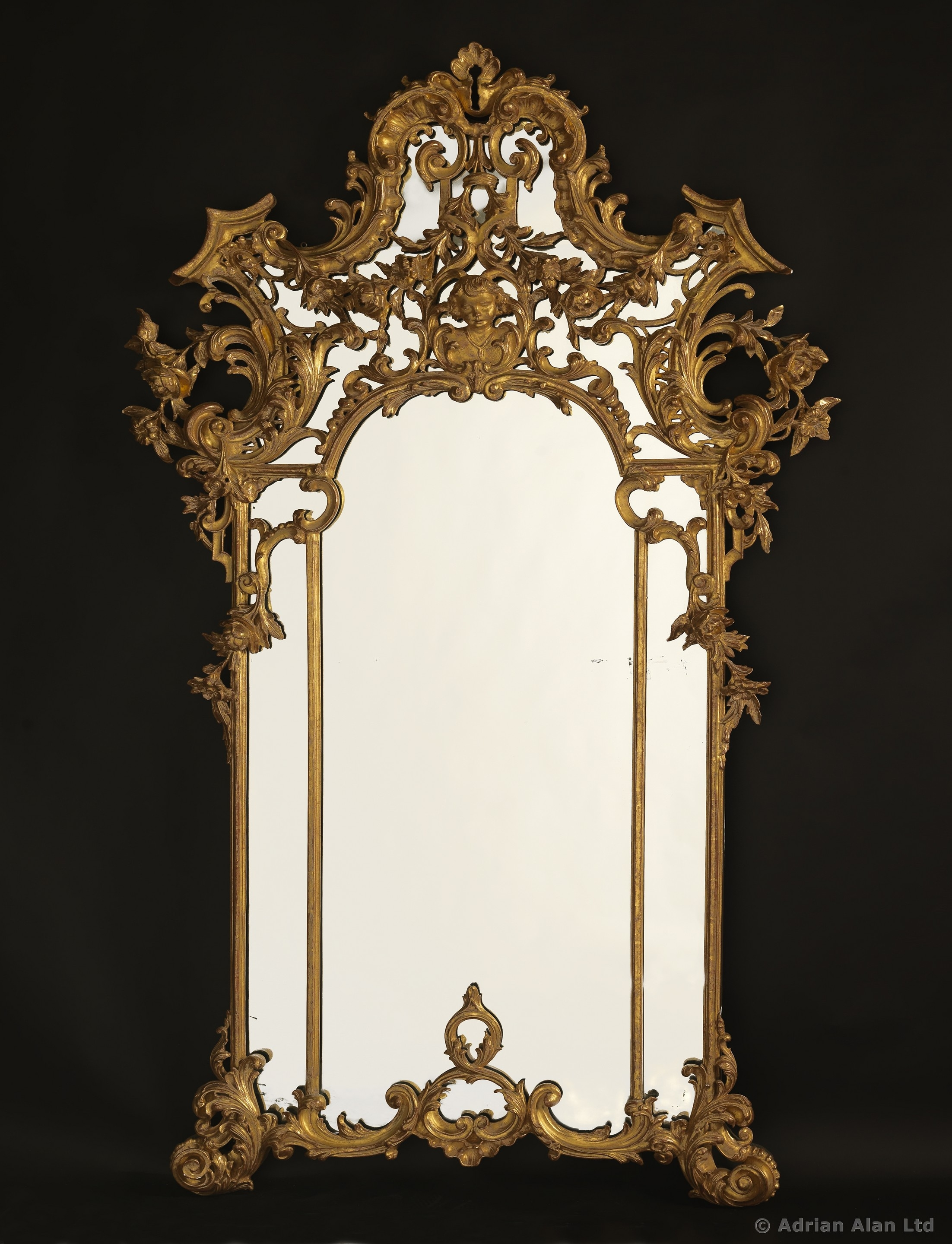 A Fine And Ornate Rococo Style Giltwood Mirror Adrian Alan With Regard To Rococo Style Mirrors (Image 1 of 15)