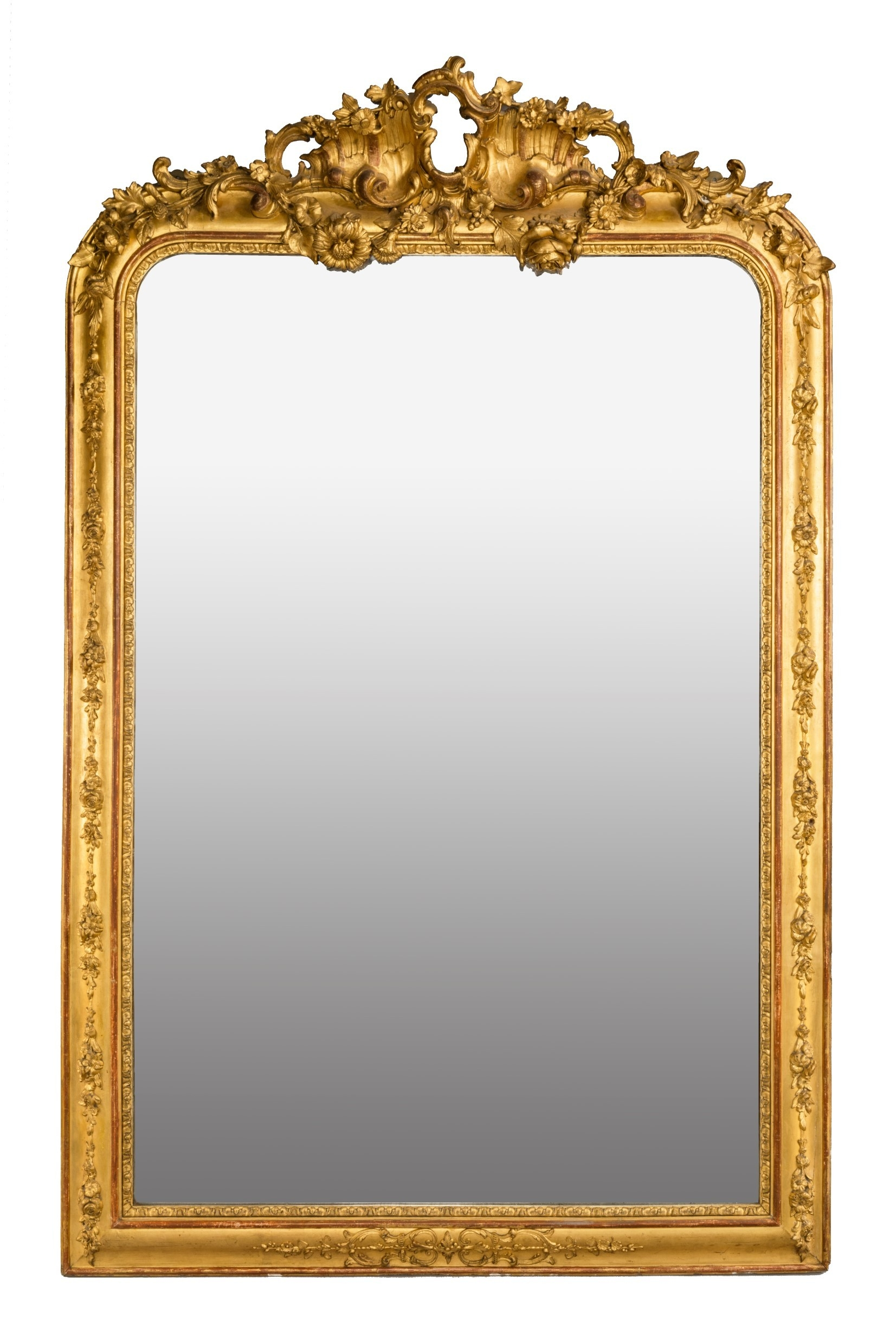 A Pair Of Large Gilt Mirrors C 1860 Continental From Summers Regarding Gilt Mirrors (Image 2 of 15)