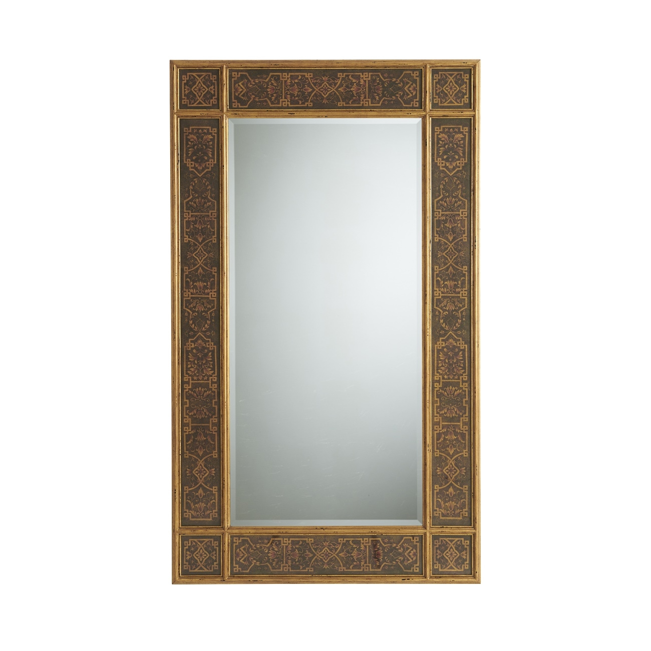 A Reverse Kufic Decoupage And Gilt Wood Framed Mirror The Intended For Gilt Framed Mirrors (Image 4 of 15)