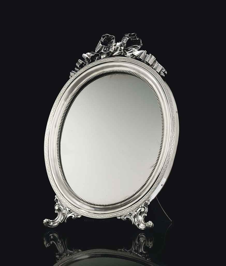 A Silver Dressing Table Mirror Marked Sazikov With The Imperial Intended For Silver Dressing Table Mirror (Image 1 of 15)