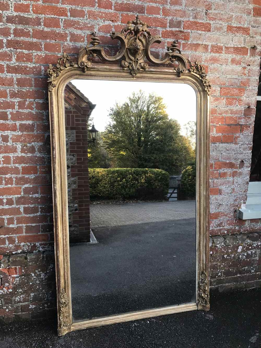 A Spectacular Large Antique 19th Century French Carved Wood And Regarding Antique Large Mirror (Image 2 of 15)