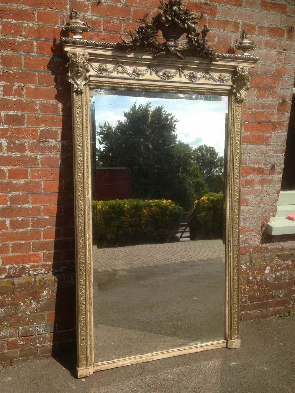 A Stunning Very Decorative Very Large Antique 19th Century French Regarding Antique Large Mirror (Image 4 of 15)