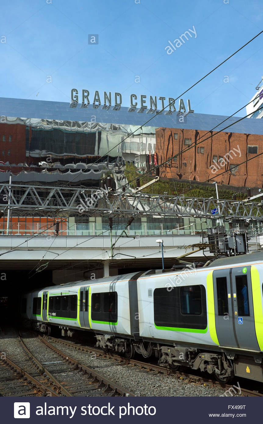 A Train Leaves Birmingham New Street Railway Station With The Inside Mirrors In Birmingham (Image 4 of 15)