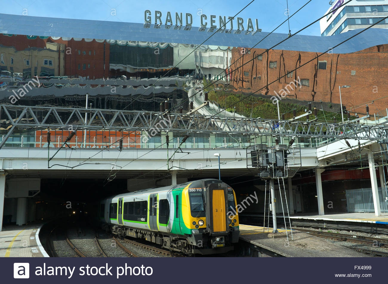 A Train Leaves Birmingham New Street Railway Station With The Pertaining To Mirrors In Birmingham (Photo 12 of 15)