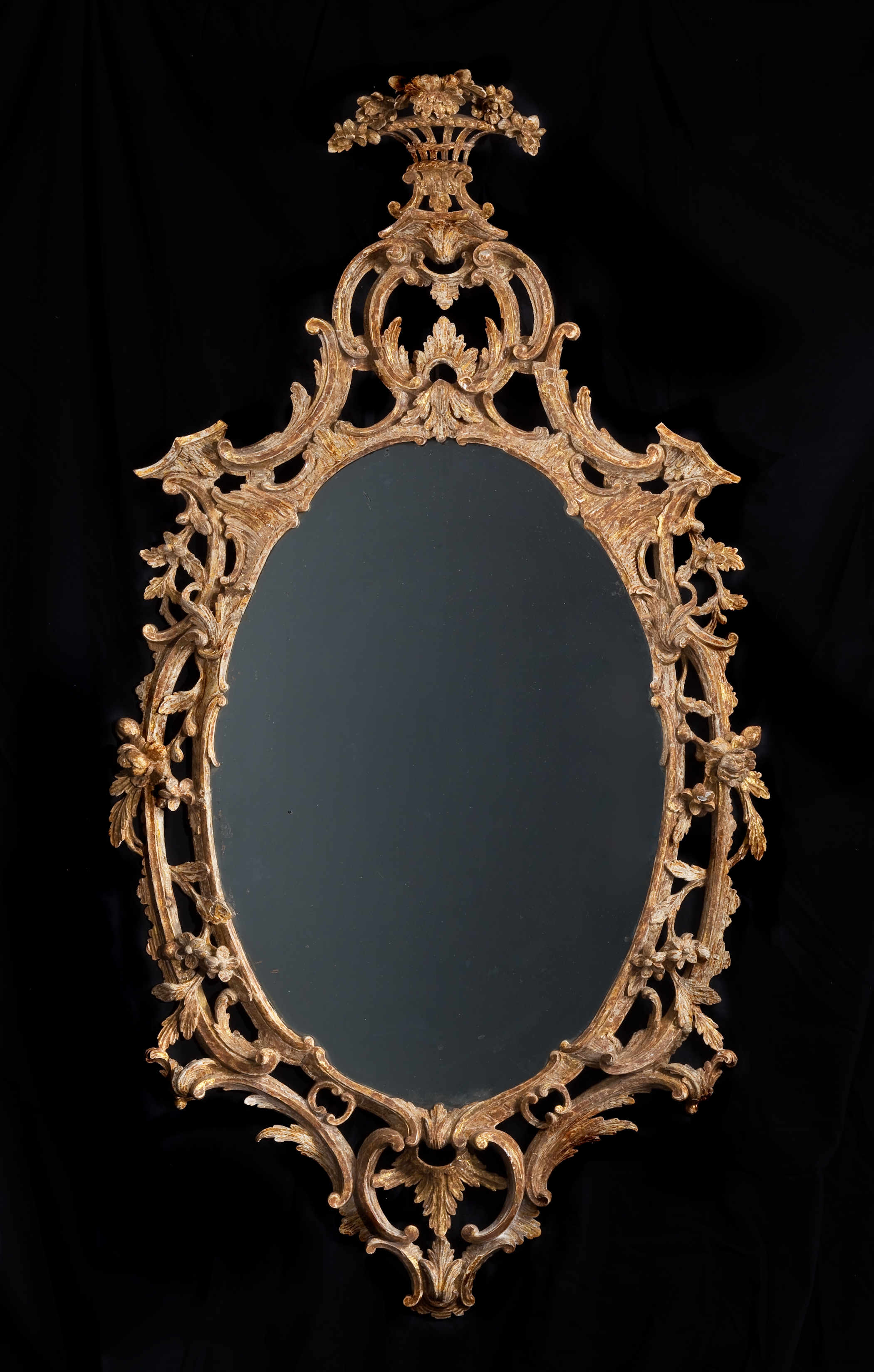 A Transitional Baroque And Rococo Mirror Clinton Howell Intended For Rococo Mirrors (Image 4 of 15)