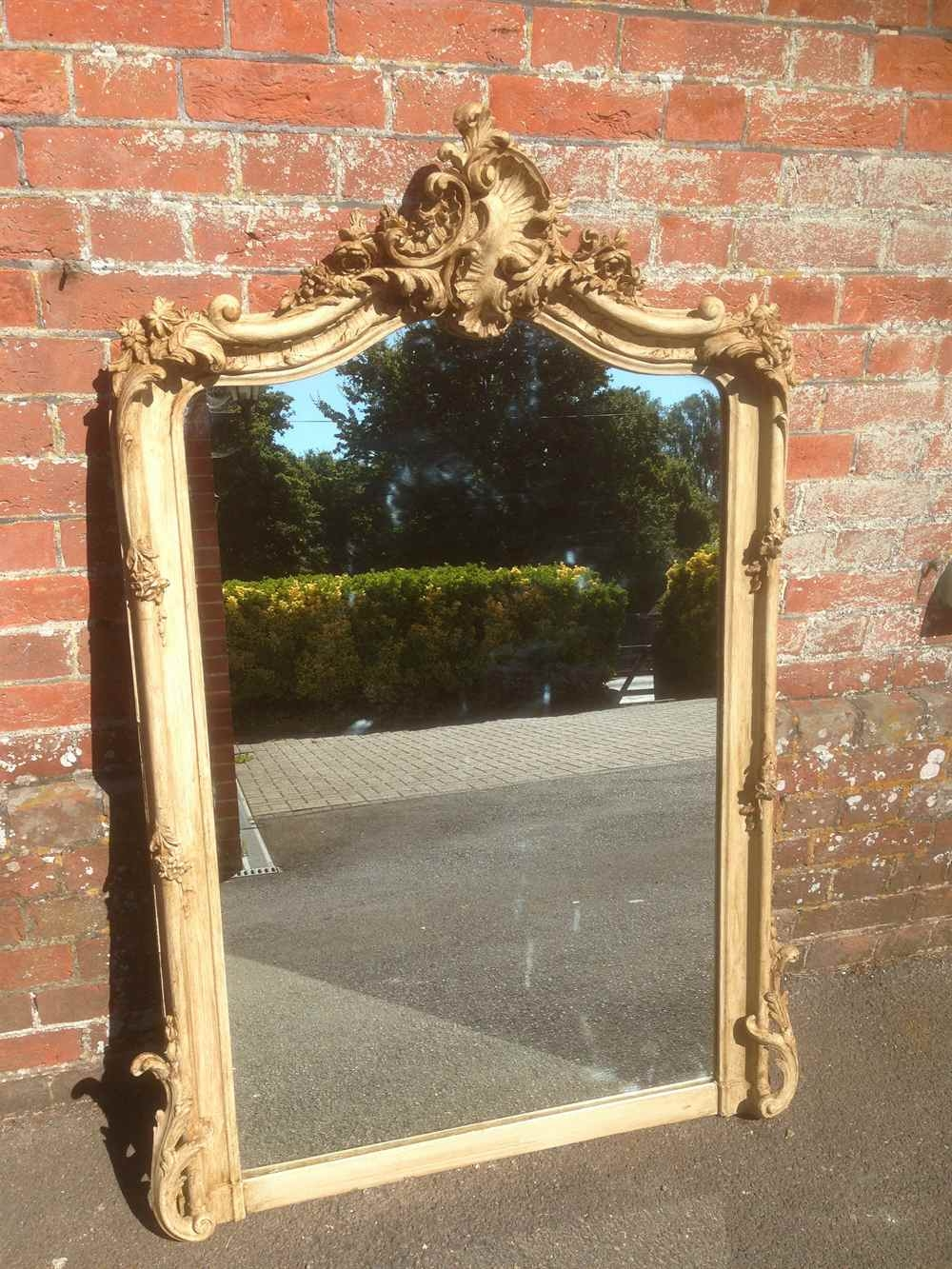 A Wonderful Antique 19th Century Large French Ornate Painted Regarding Large French Mirrors (Image 5 of 15)