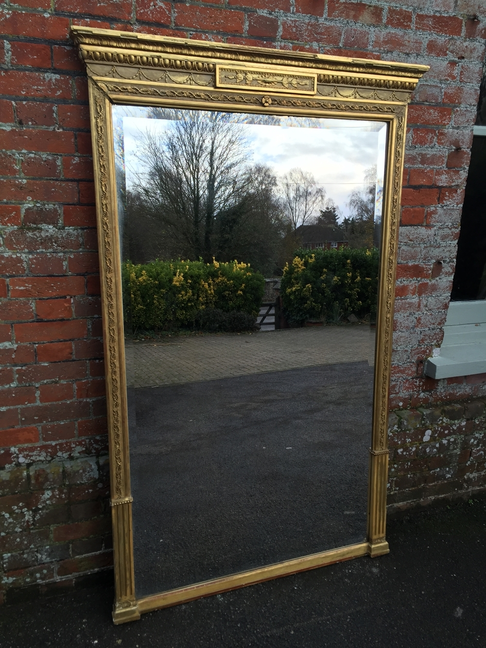 A Wonderful Large Antique 19th Century French Original Carved Wood Within Antique Gilt Mirrors (Image 4 of 15)